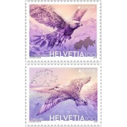 2 عدد تمبر مشترک اروپا - Europa Cept - پرندگان ملی - سوئیس 2019  ارزش روی تمبر 2 فرانک