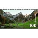 1 عدد تمبر کوهستان - الپشتاین - سوئیس 2018  ارزش روی تمبر 1 فرانک - تمبر شیت
