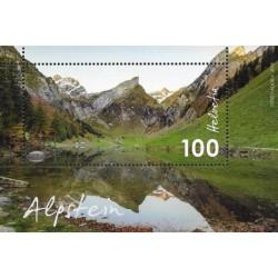 مینی شیت کوهستان - الپشتاین - سوئیس 2018  ارزش روی تمبر 1 فرانک
