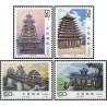 4 عدد تمبر معماری دونگ - چین 1997