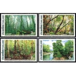 4 عدد تمبر صدمین سالگرد دپارتمان جنگلهای سلطنتی - تایلند 1996 قیمت 3.3 دلار