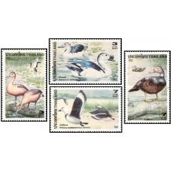 4 عدد تمبر پرندگان آبزی - تایلند 1996