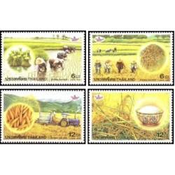 4 عدد تمبر کشت برنج - تایلند 1999 قیمت 3 دلار