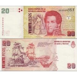 اسکناس 20 پزو - آرژانتین 2003