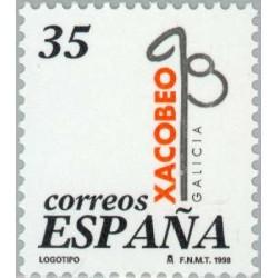 1 عدد تمبر سال مقدس کامپوستلا - اسپانیا 1998
