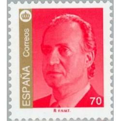 1 عدد تمبر سری پستی - شاه خووان کارلوس اول - 70 - اسپانیا 1998