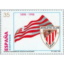1 عدد تمبر صدمین سال باشگاه ورزشی آتلتیک بیلبائو - اسپانیا 1998