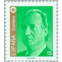 1 عدد تمبر سری پستی - شاه خووان کارلوس اول - 15 - اسپانیا 1998