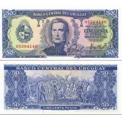 اسکناس 50 پزو - اورگوئه 1967  سری A