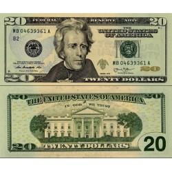 اسکناس 20 دلار - آمریکا 2013 سری B نیویورک - مهر سبز - سفارشی