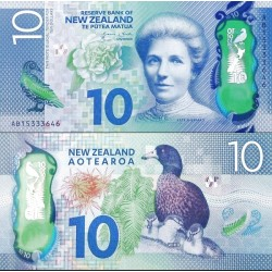 اسکناس پلیمر 10 دلار - نیوزلند 2015 سفارشی