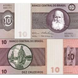 اسکناس 10کروزرو - برزیل 1970 سری A01430 - A07745
