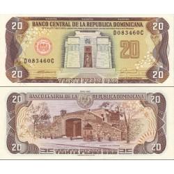 اسکناس 20 پزو - جمهوری دومنیکن 1990