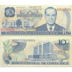اسکناس 10 کلون - کاستاریکا 1983 بدون نخ امنیتی - تاریخ 07.04.1983