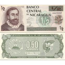 اسکناس ½ کردوبا - نیکاراگوئه 1992