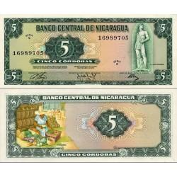اسکناس 5 کردوبا - نیکاراگوئه 1972