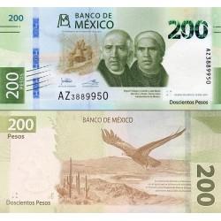 اسکناس 200 پزو - مکزیک 2019 سفارشی