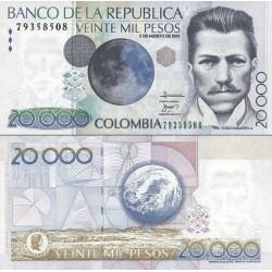 اسکناس 20000 پزو - کلمبیا 2010 تاریخ 5.08.2010 سفارشی