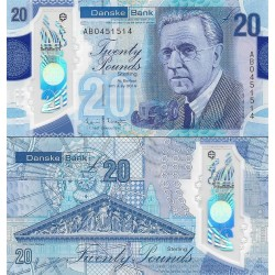 اسکناس پلیمر 20 پوند استرلینگ - دانسکه بانک -ایرلندشمالی 2019 سفارشی