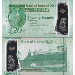 اسکناس پلیمر 20 پوند استرلینگ  - بانک ایرلند - ایرلند شمالی 2017 سفارشی