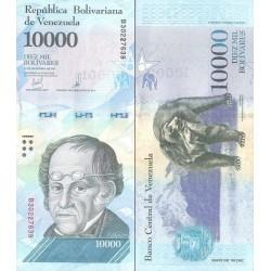 اسکناس 10000 بولیوار - ونزوئلا 2017