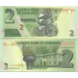 اسکناس 2 دلار - زیمباوه 2019