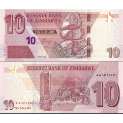 اسکناس 10 دلار - زیمباوه 2020