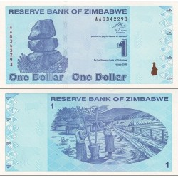 اسکناس 1 دلاری - زیمباوه 2009