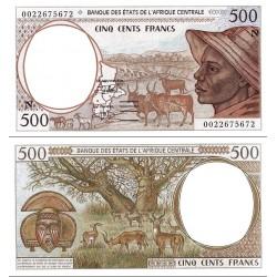 اسکناس 500 فرانک -گینه استوایی 2000 - آفریقای مرکزی 2000 کد N