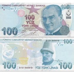اسکناس 100 لیر - ترکیه 2009