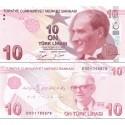 اسکناس 10 لیر - ترکیه 2009 سری D