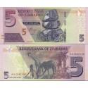 اسکناس 5 دلار - زیمباوه 2019