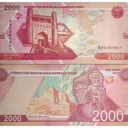 اسکناس 2000 سام - ازبکستان 2021