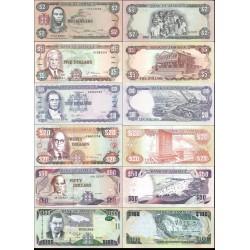 نیم ست اسکناسهای جامائیکا  -2، 5، 10، 20، 50، 100 دلار - جامائیکا 1991 الی 2016