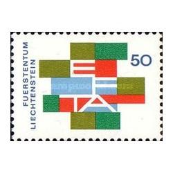 1 عدد تمبر افتا - اتحادیه تجارت آزاد اروپا - لیختنشتاین 1967
