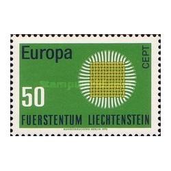 1 عدد تمبر مشترک اروپا - Europa Cept - لیختنشتاین 1970