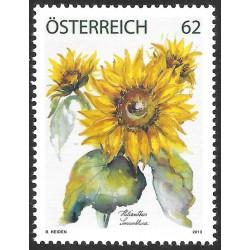 1 عدد  تمبر گلها - گل آفتابگردان - نقاشی - اتریش 2013  قیمت 4.7 دلار