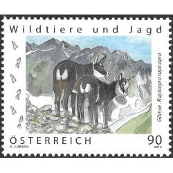 1 عدد  تمبر یوانات وحشی و شکار - اتریش 2013