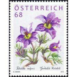 1 عدد  تمبر  گلها - اتریش 2015