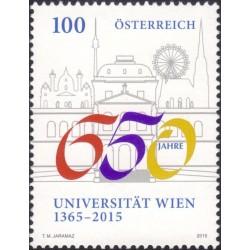 1 عدد  تمبر 650مین سالگرد تاسیس دانشگاه وین - اتریش 2015