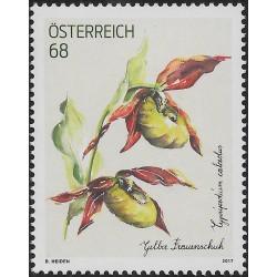 1 عدد  تمبر گلها - ارکید - اتریش 2017