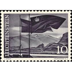 1 عدد  تمبر سری پستی مناظر - 10 - لیختنشتاین 1959
