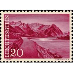 1 عدد  تمبر سری پستی مناظر - 20 - لیختنشتاین 1959