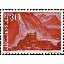 1 عدد  تمبر سری پستی مناظر - 30 - لیختنشتاین 1959