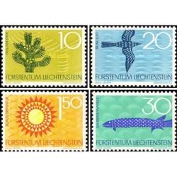 4 عدد  تمبر حفاظت از طبیعت - لیختنشتاین 1966