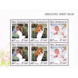 مینی شیت بهداشت کودکان - دوک و دوشس یورک و پرنسس بئاتریس - نیوزلند 1989 قیمت روی شیت 3.38 دلار