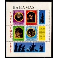 مینی شیت کریستمس - تابلو نقاشی - باهاماس 1970