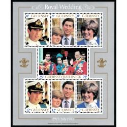 سونیرشیت ازدواج سلطنتی - دایانا اسپنسر و پرنس چارلز - گورنزی 1981 قیمت 7.7 دلار