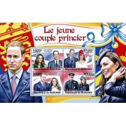 مینی شیت ازدواج سلطنتی - پرنس ویلیام و کیت میدلتون - بروندی 2011 قیمت 11.8 دلار