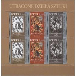 مینی شیت هنرمندان - تابلو نقاشی - لهستان 2009 قیمت 5.3 دلار